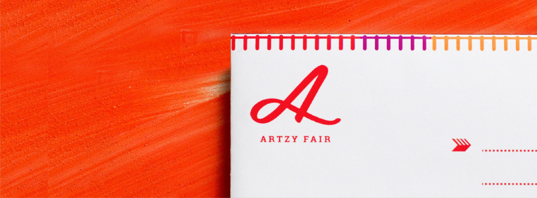 Artzy Fair visual identity by Fuze Branding
