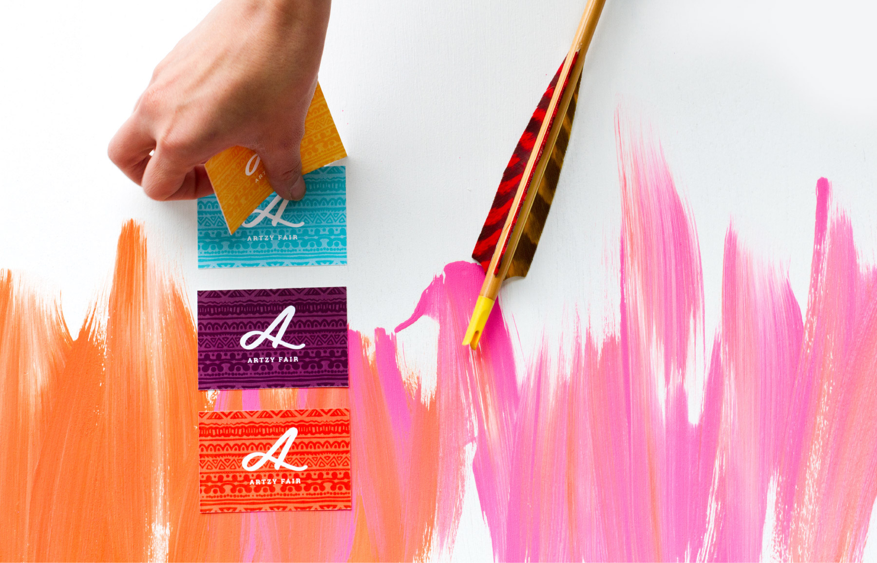 Arts and crafts company business cards