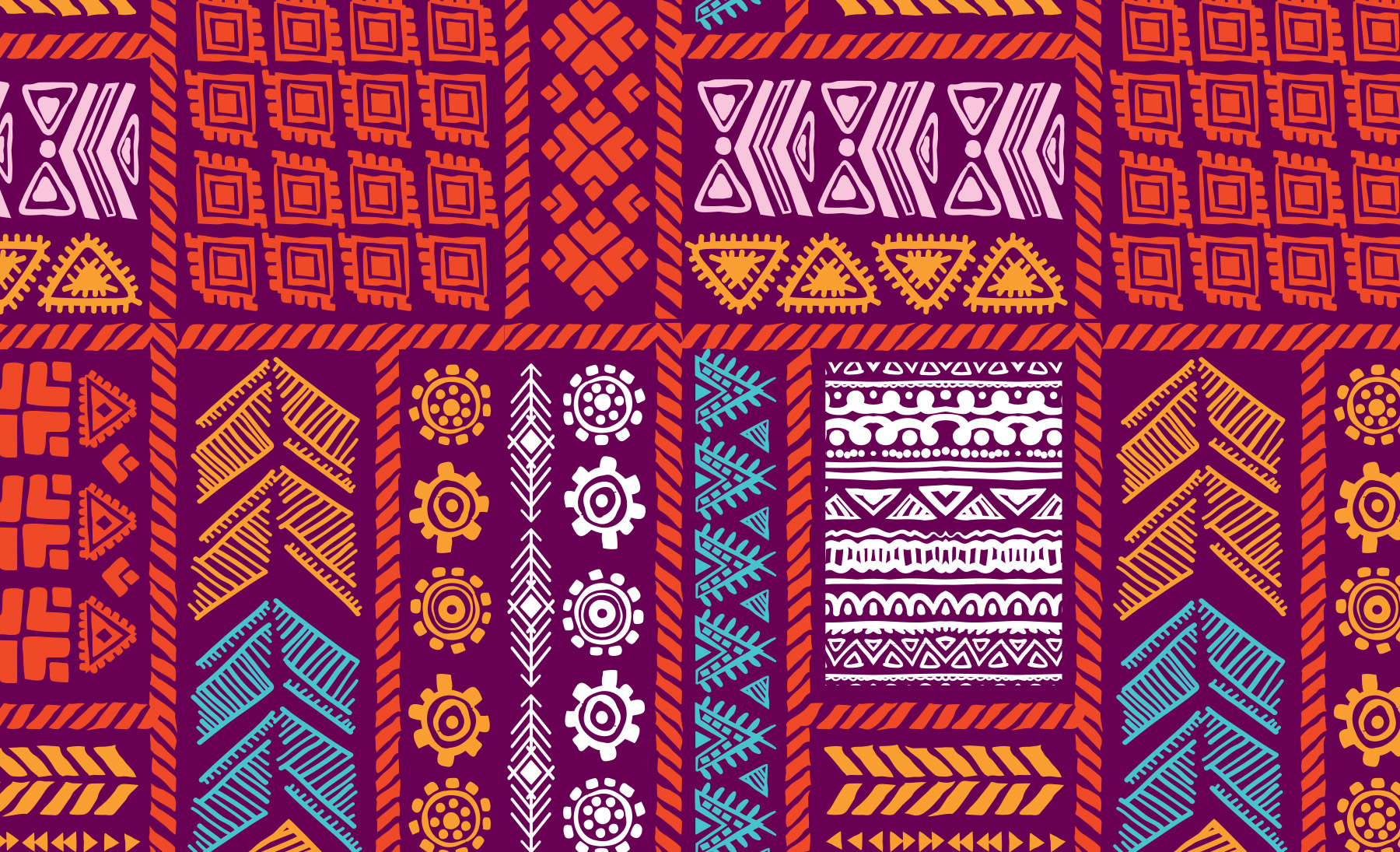 Festive brightly colored pattern