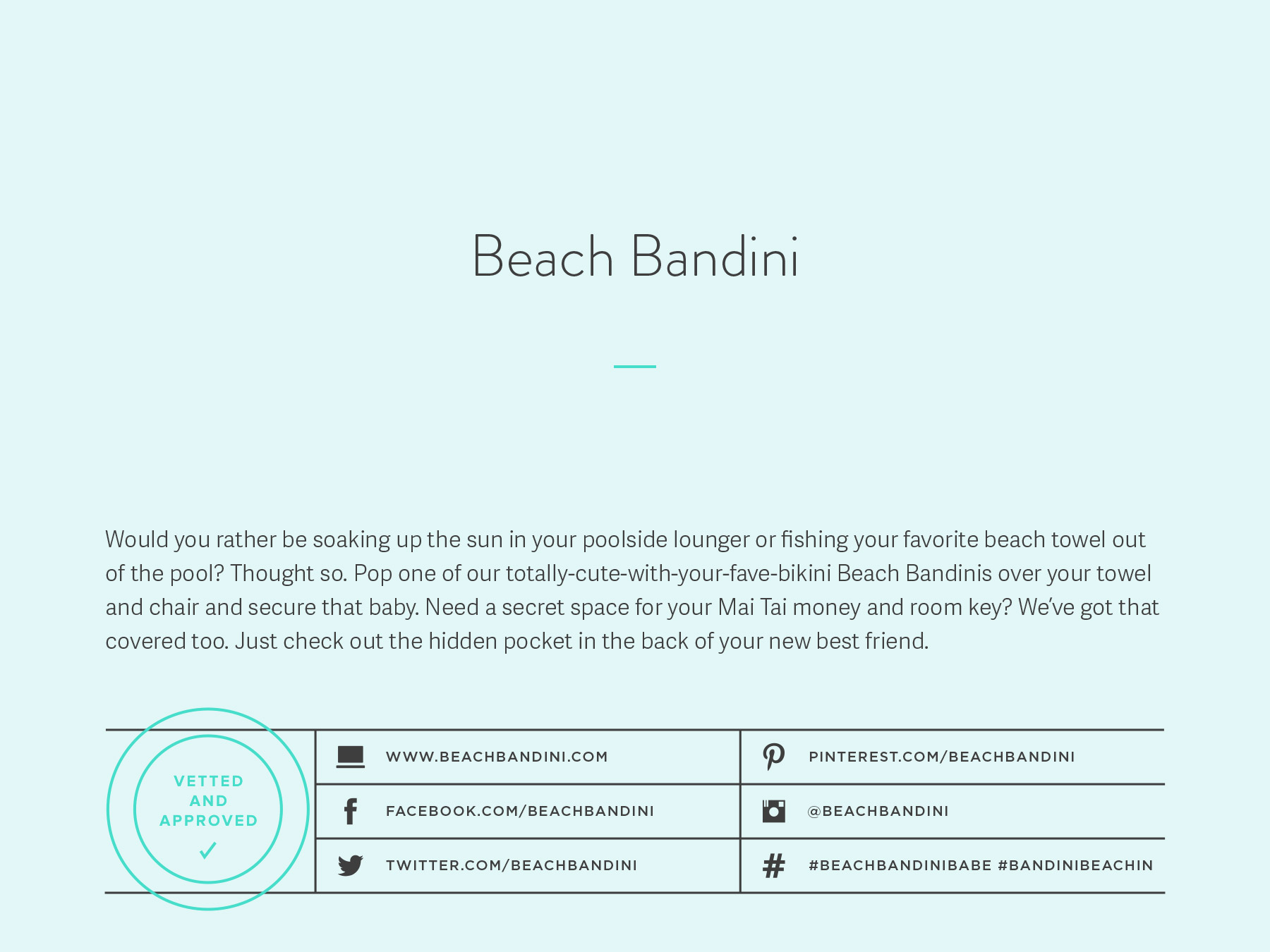 Beach Bandini company naming process