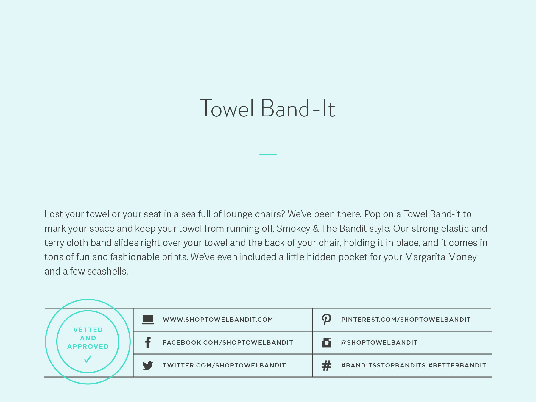 Towel Band-It company naming process