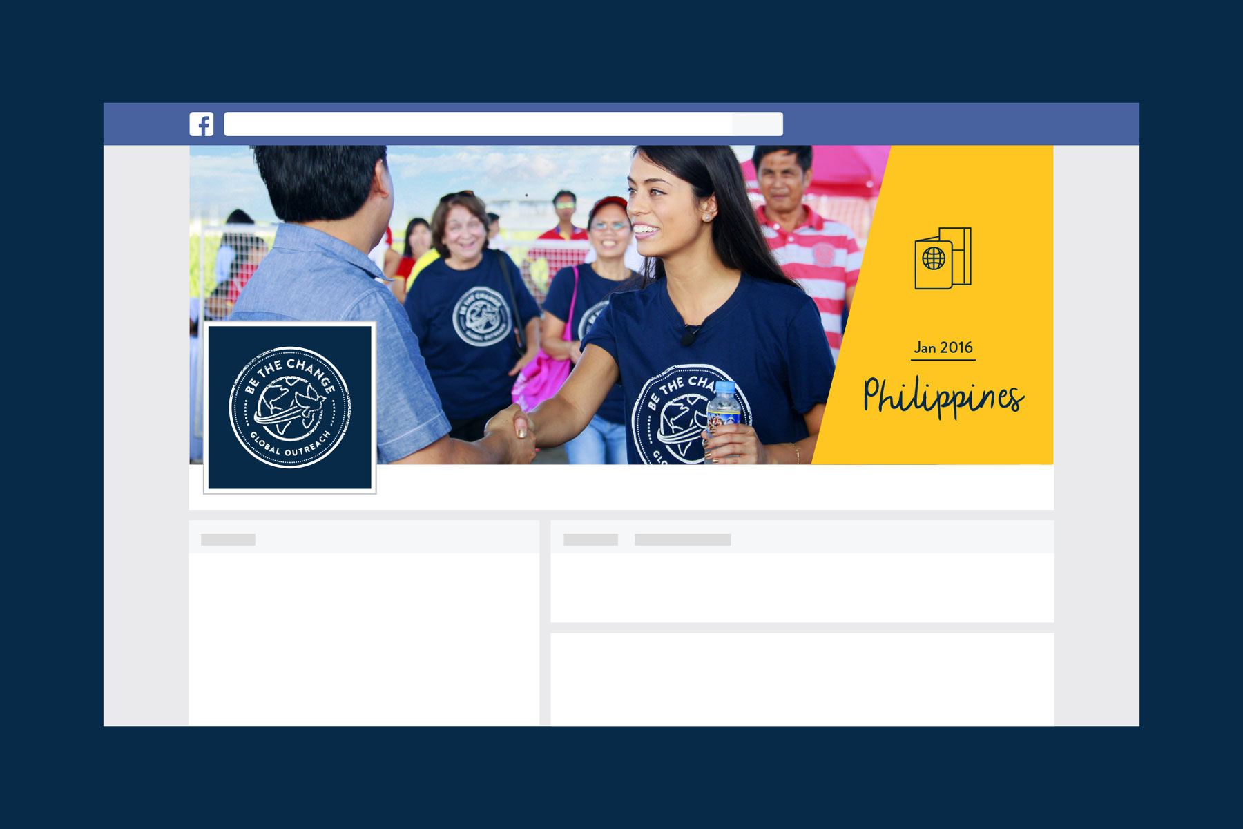 Facebook profile design for service org