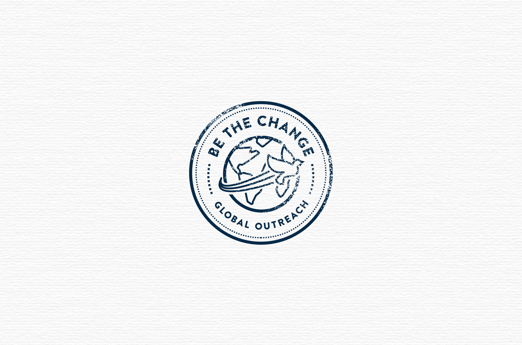 Be The Change logo design