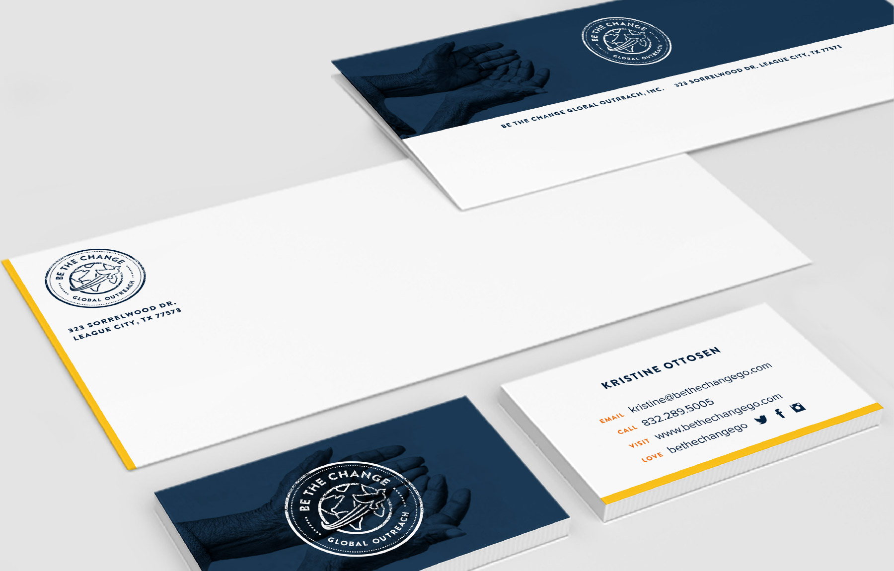 Philanthropy stationery design