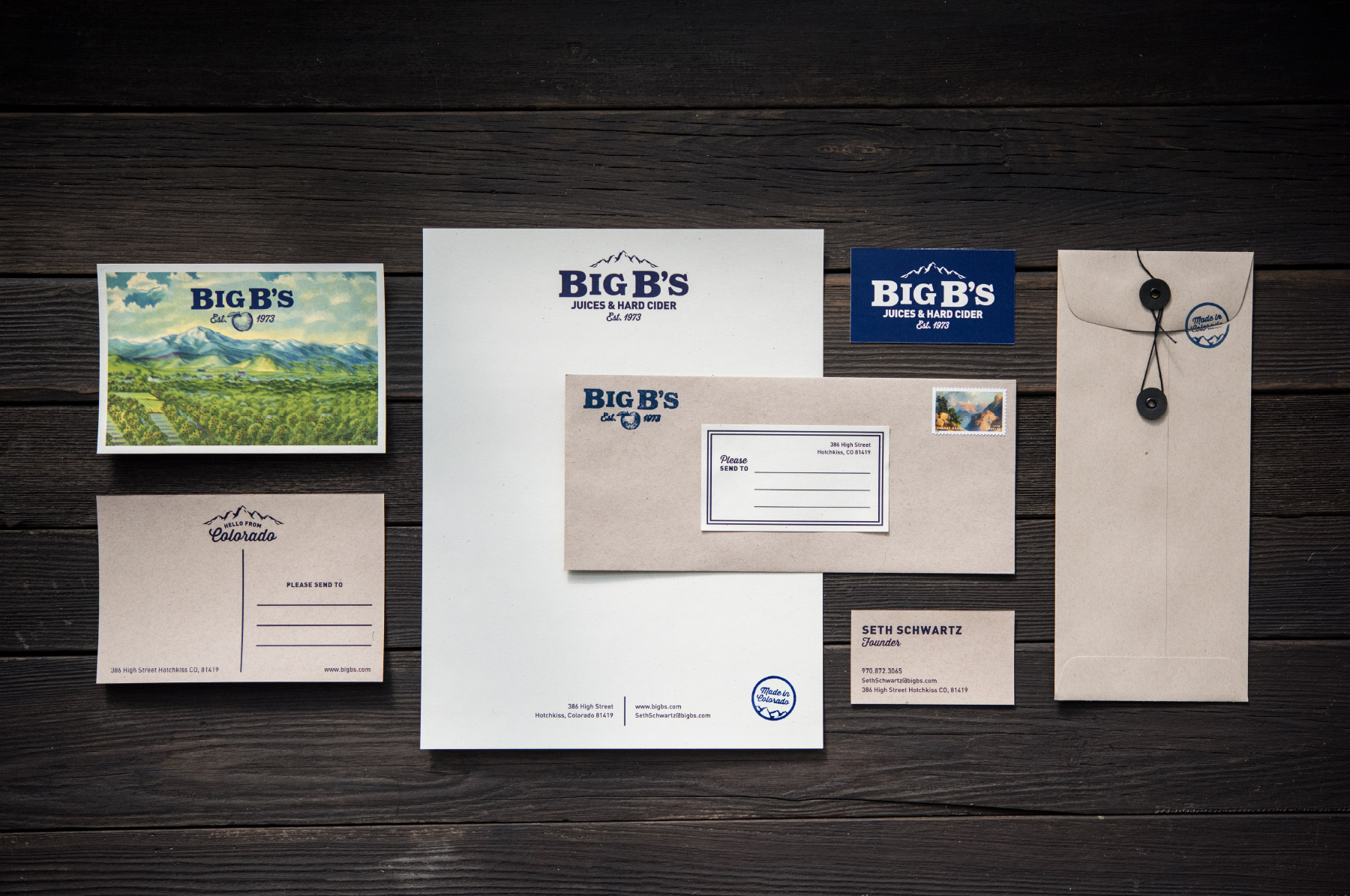 Time-honored rustic, branding stationery