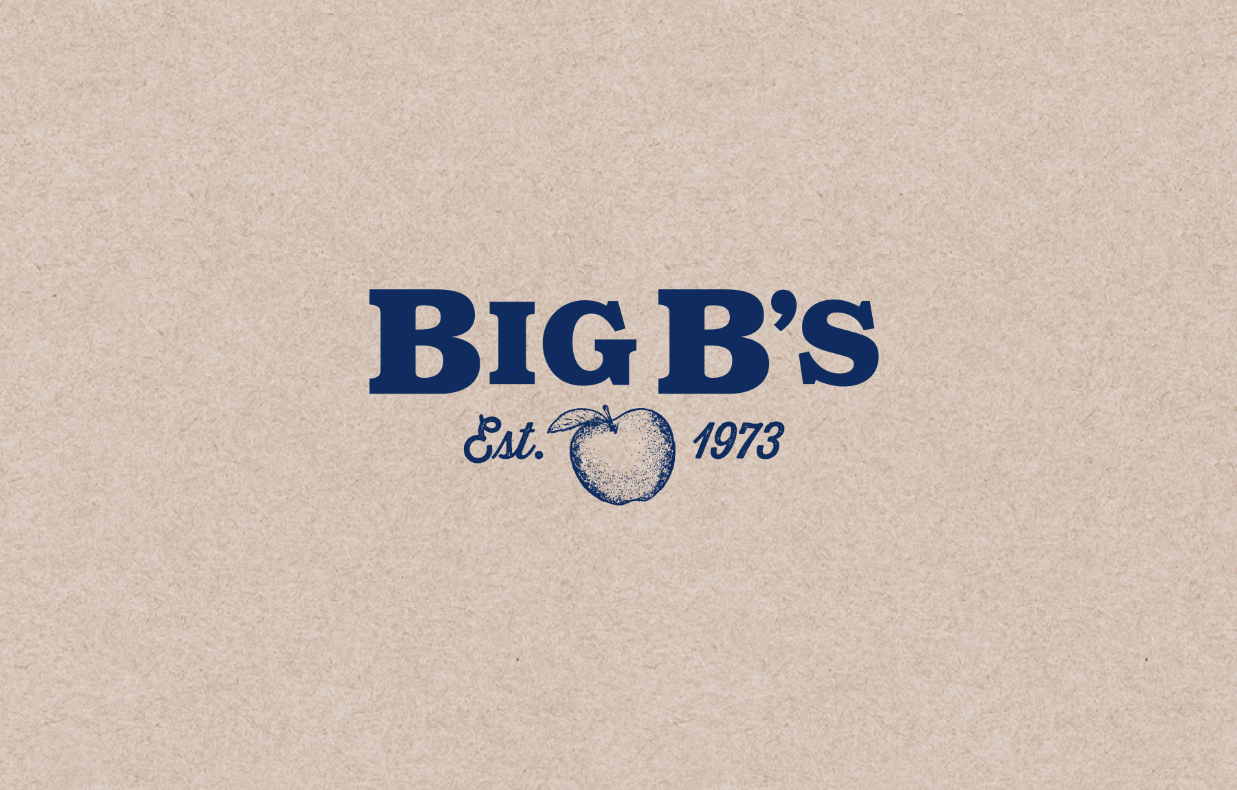 Time-honored logo design for Big B's Juice