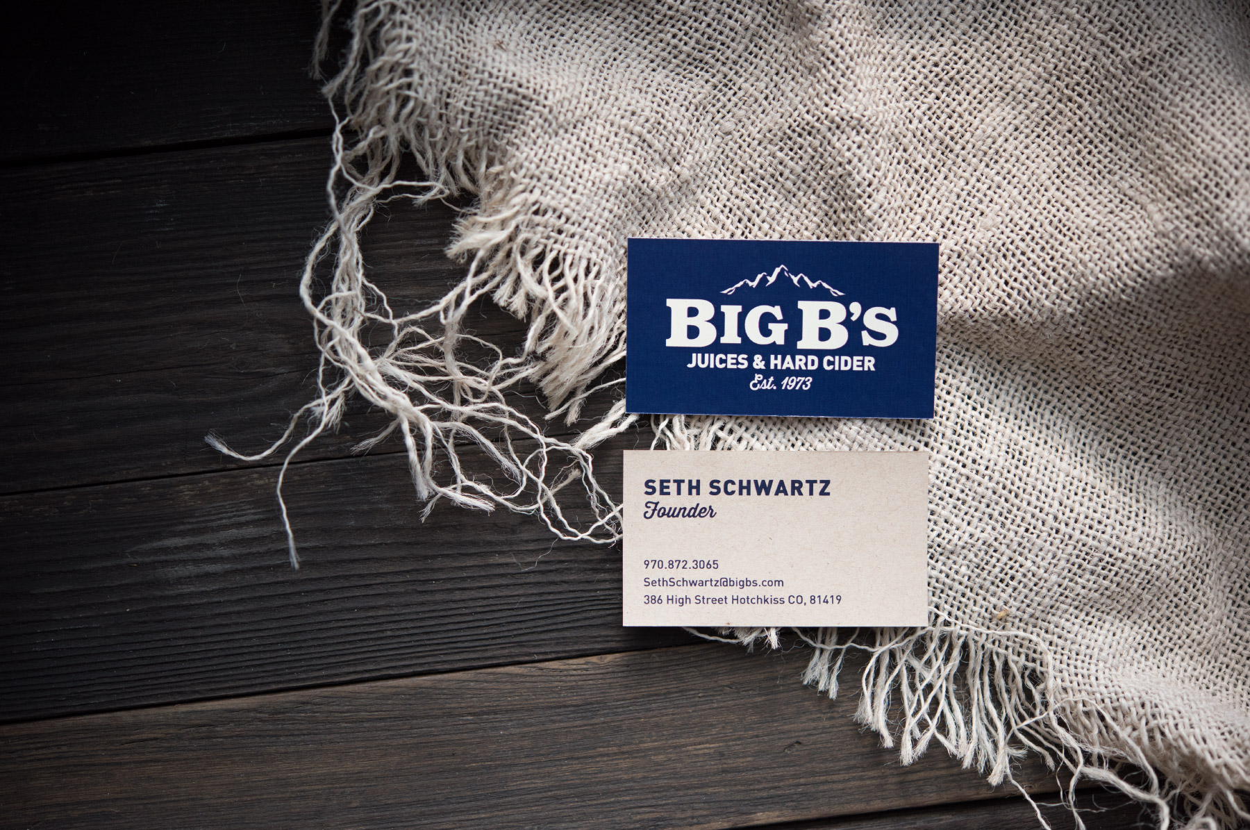 Time-honored rustic business card