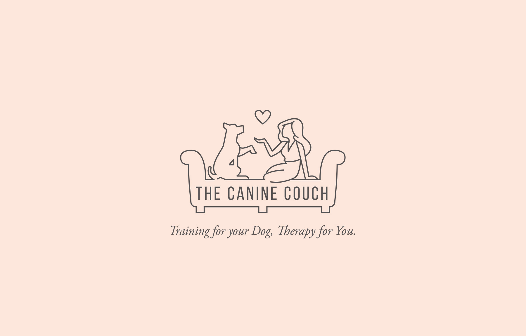 Canine Couch dog training logo