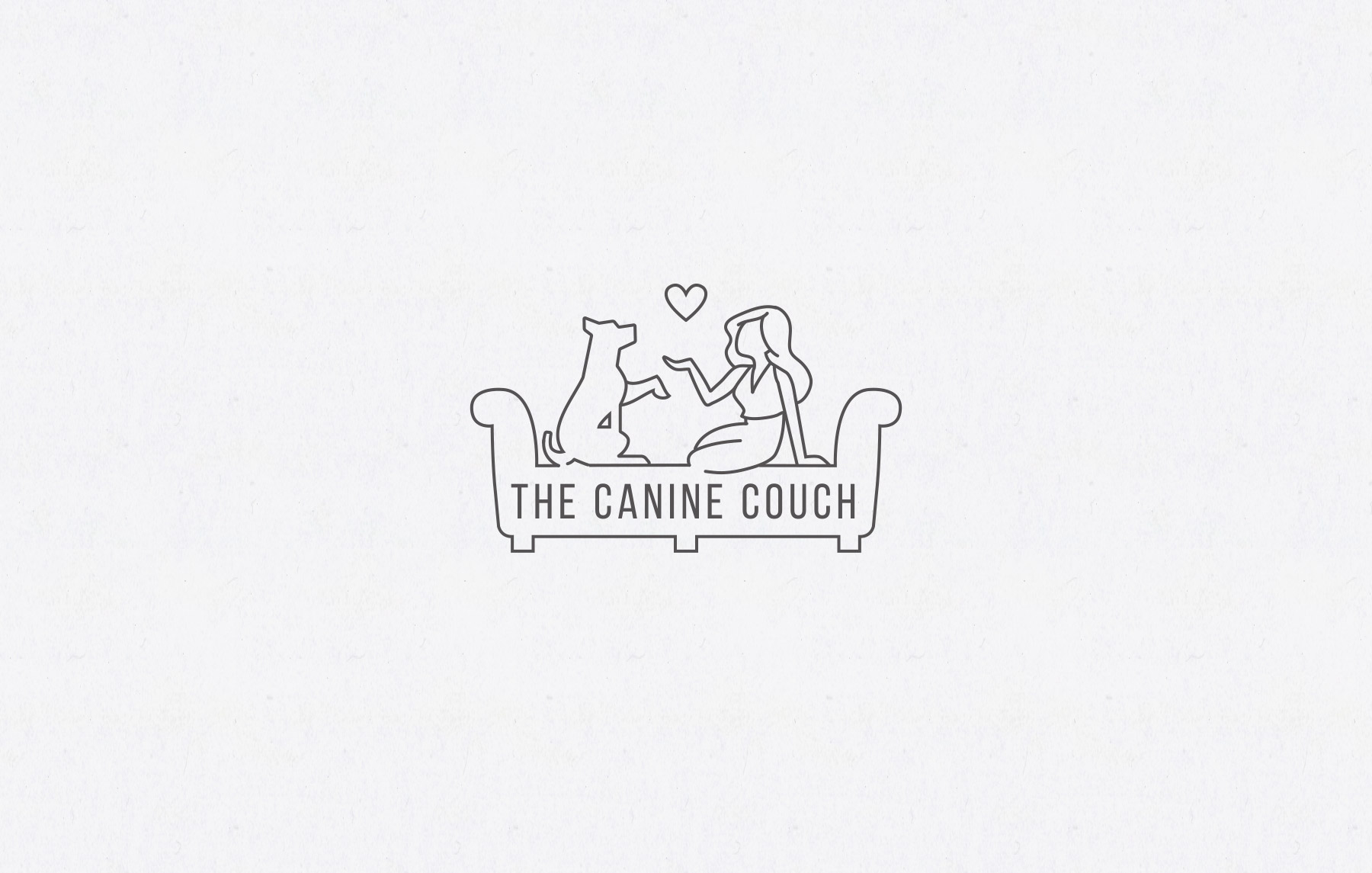 Comforting logo design for dog training service