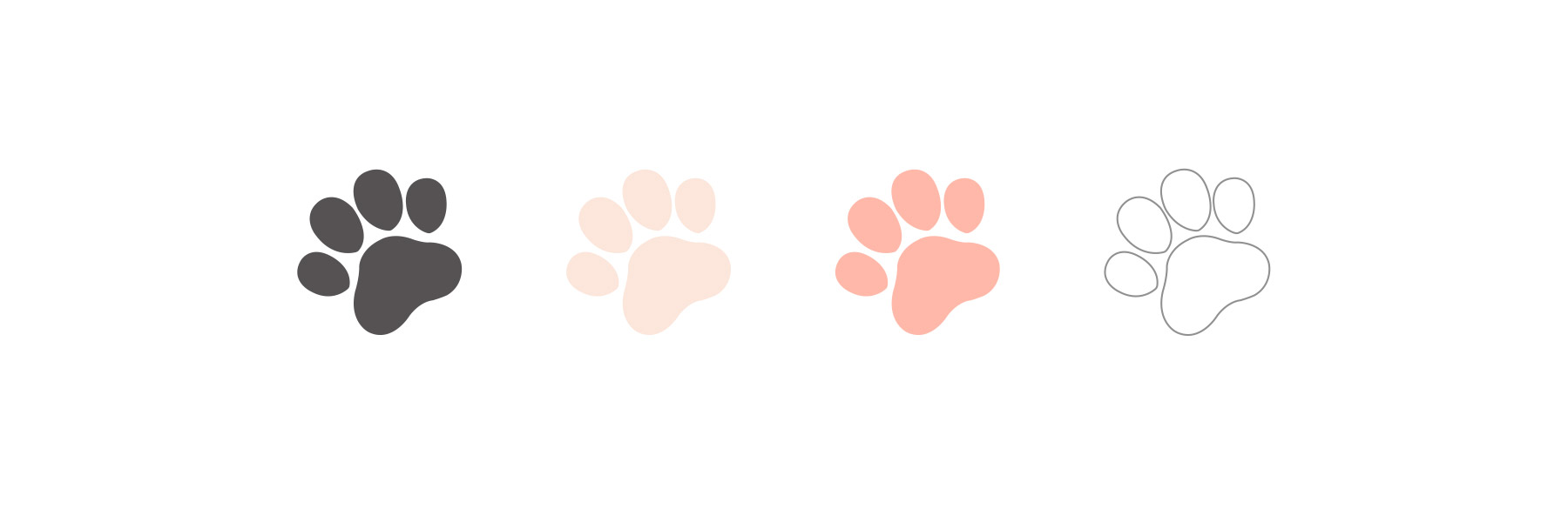 Puppy paw print drawings