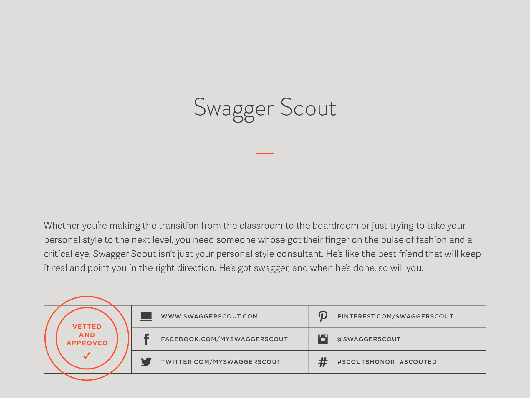 Swagger Scout company naming process