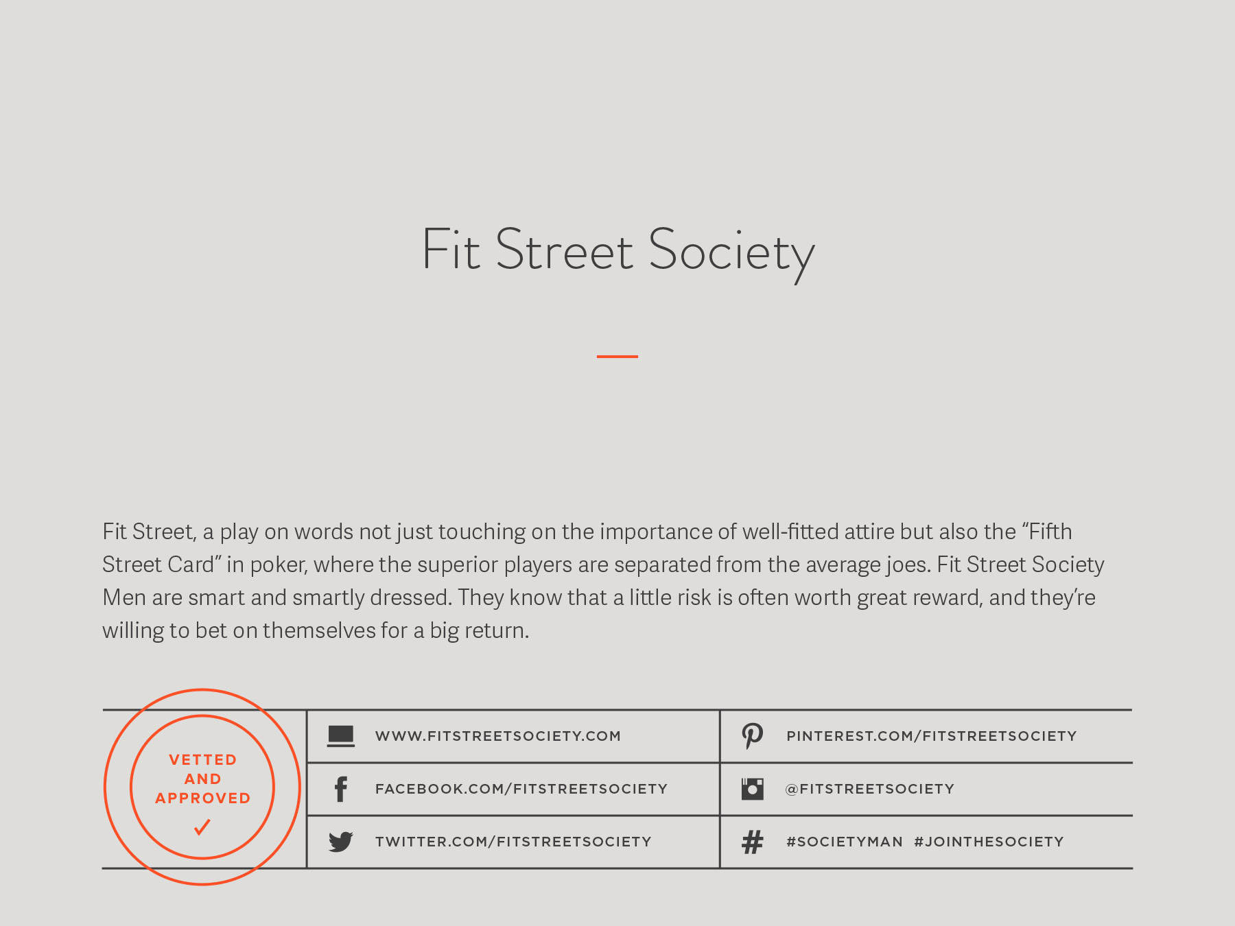Fit Street Society company naming process