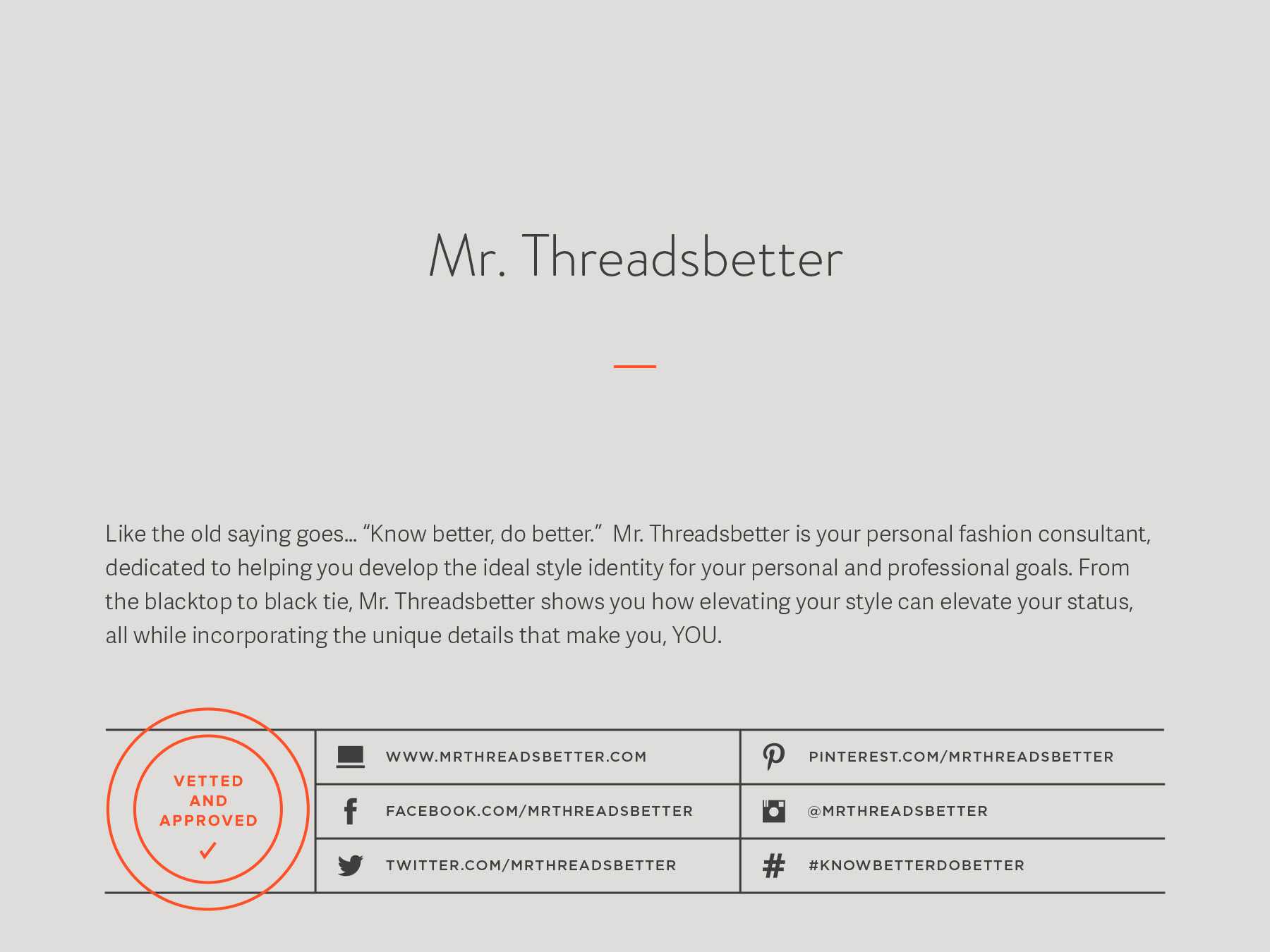 Mr. Threadsbetter company naming process