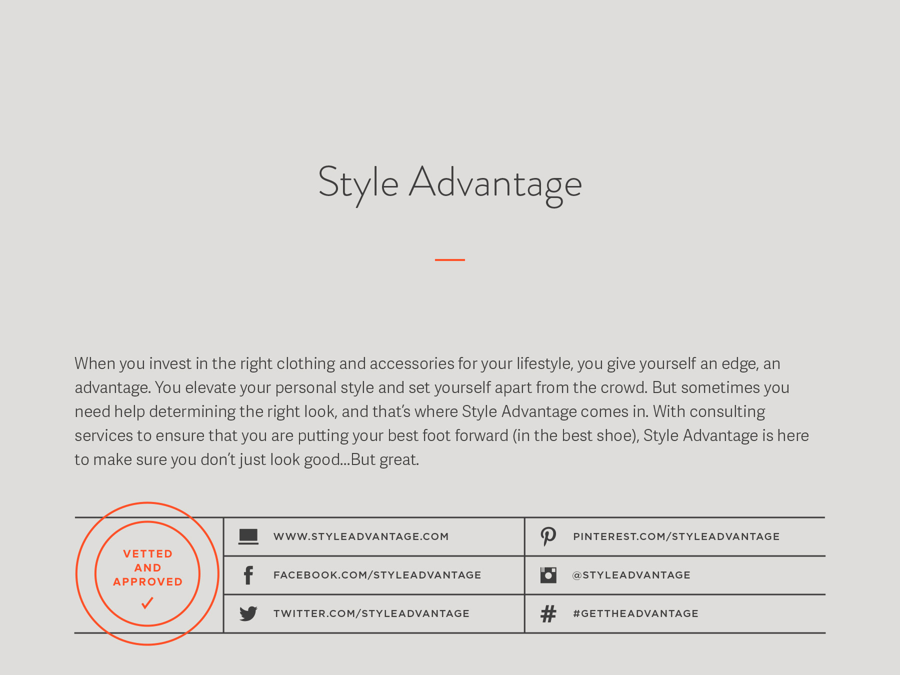 Style Advantage company naming process