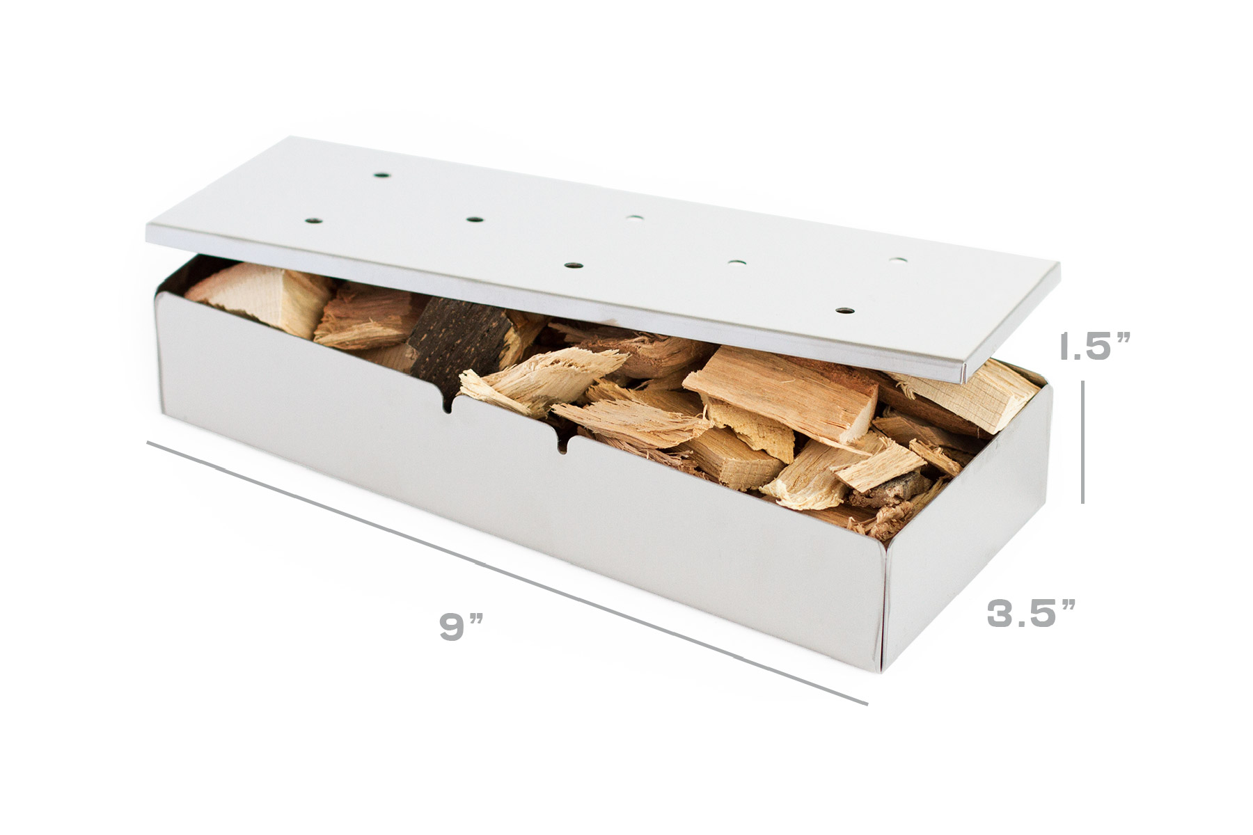 Wood chip box with dimensions