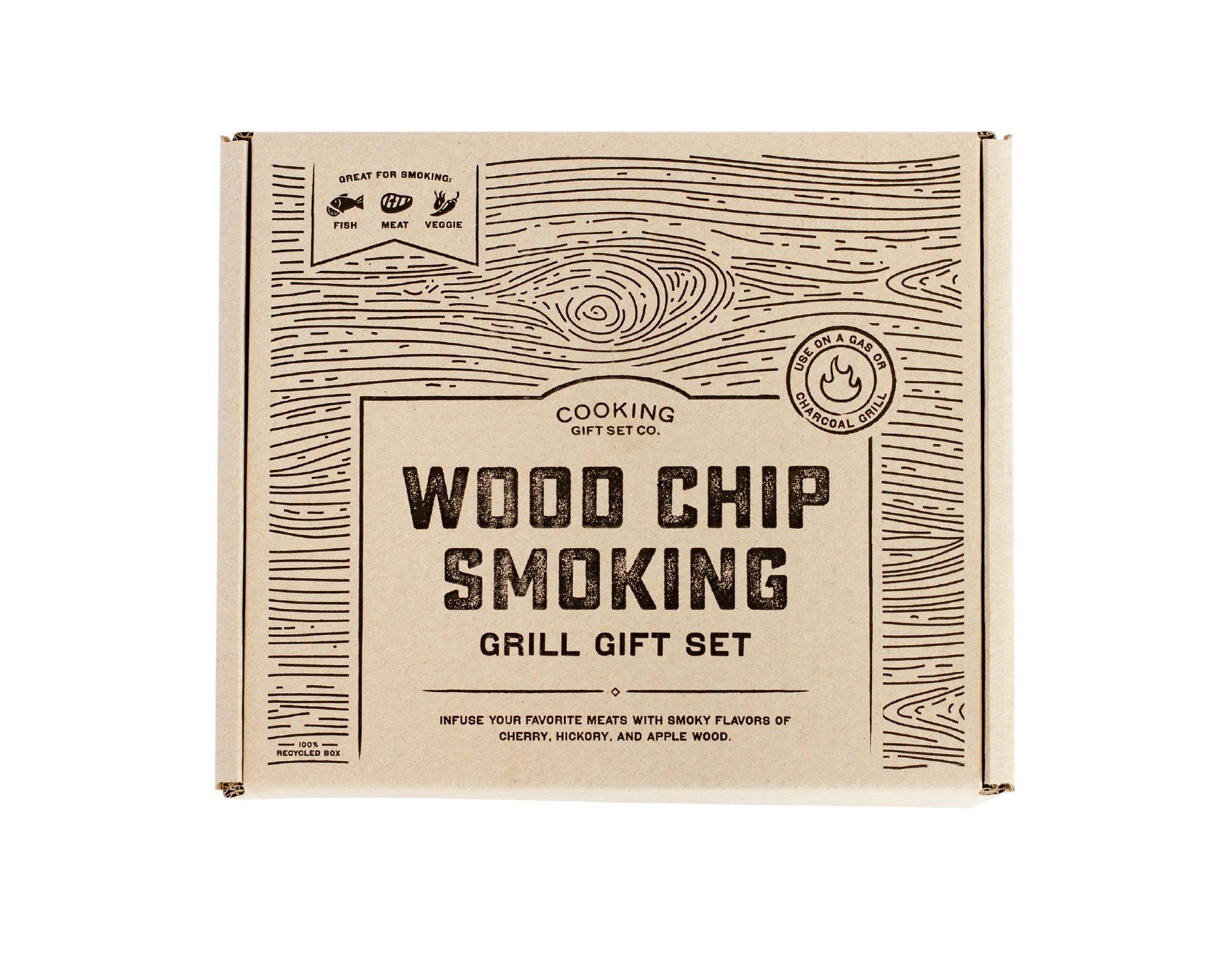 Wood inspired packaging design