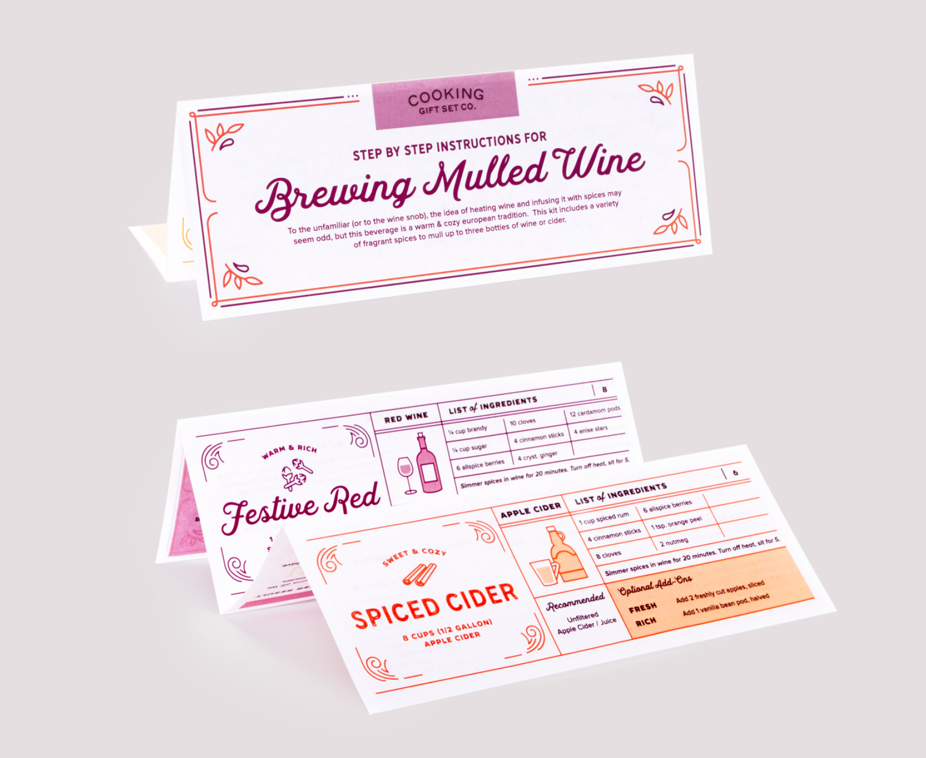 Instructions for brewing mulled wine