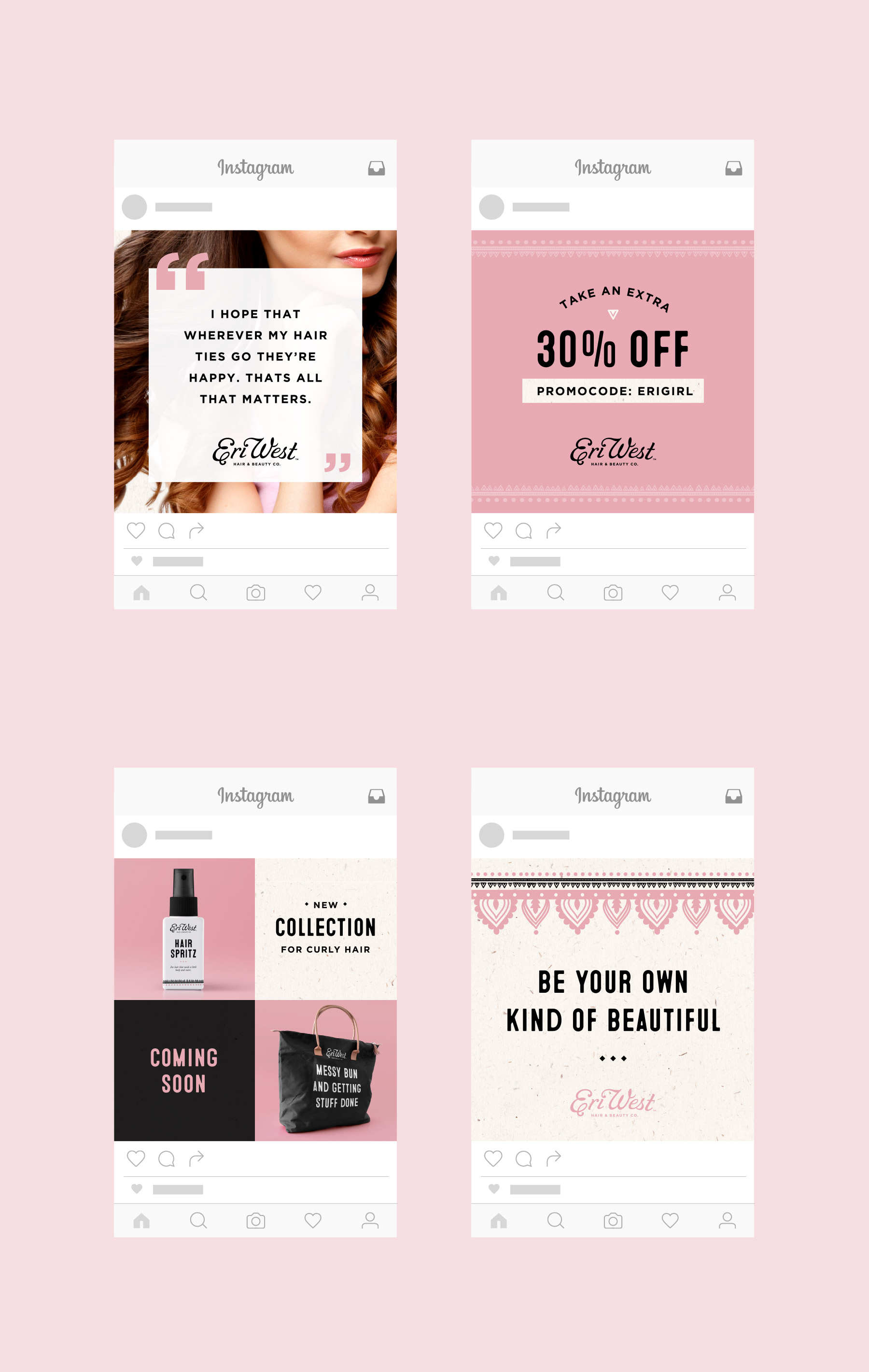 Instagram posts for beauty brand