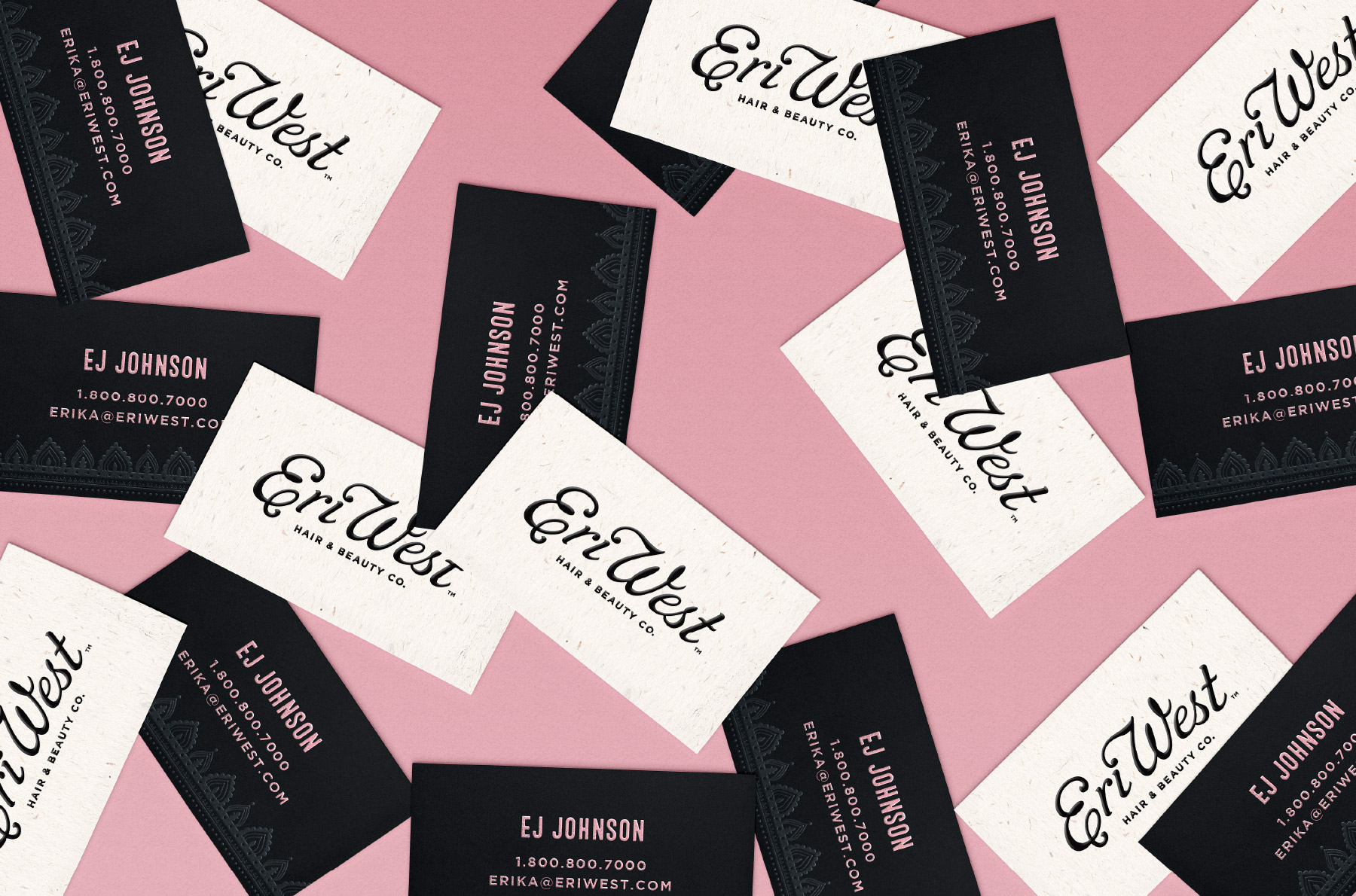 Free spirited beauty business card design