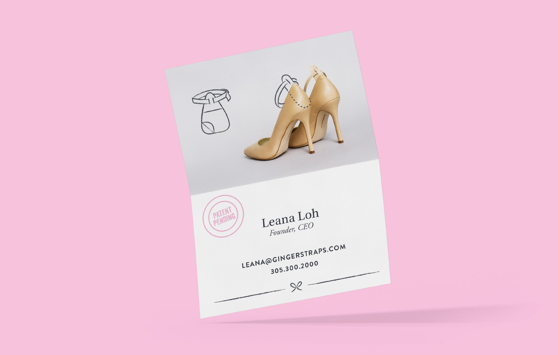 Business card for trendy fashion brand
