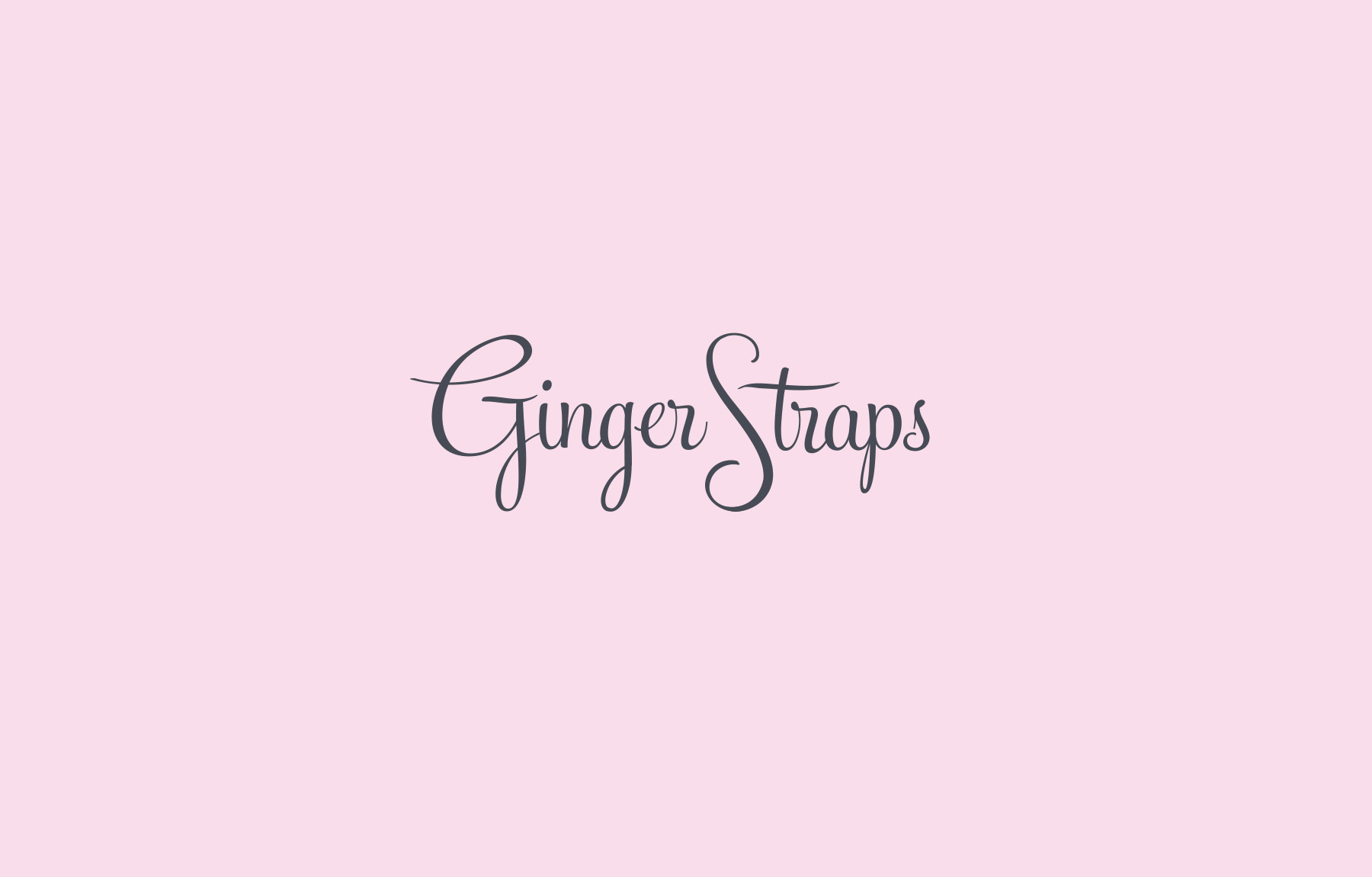 Cute lettering for GingerStraps fashion logo