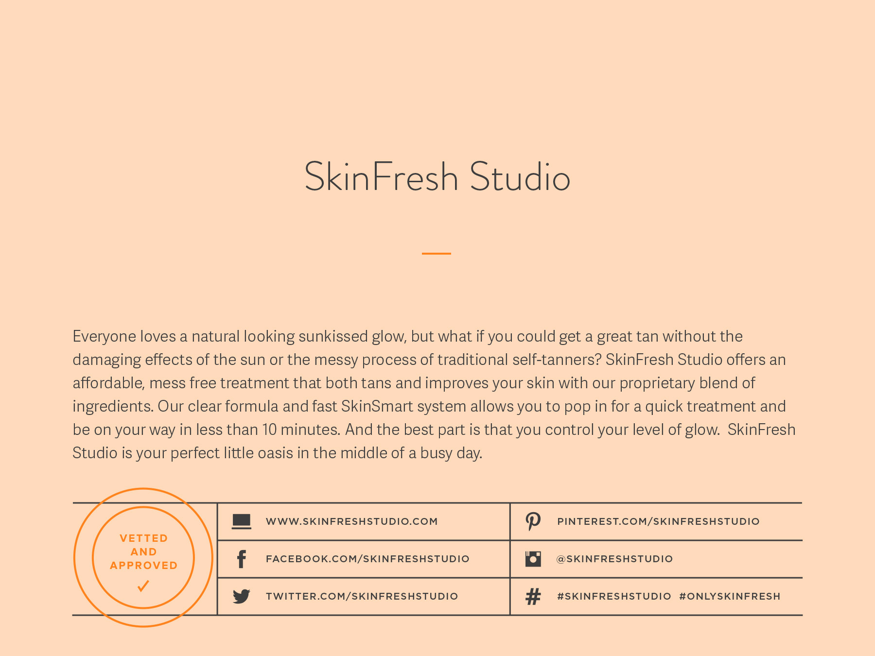 SkinFresh Studio company naming process