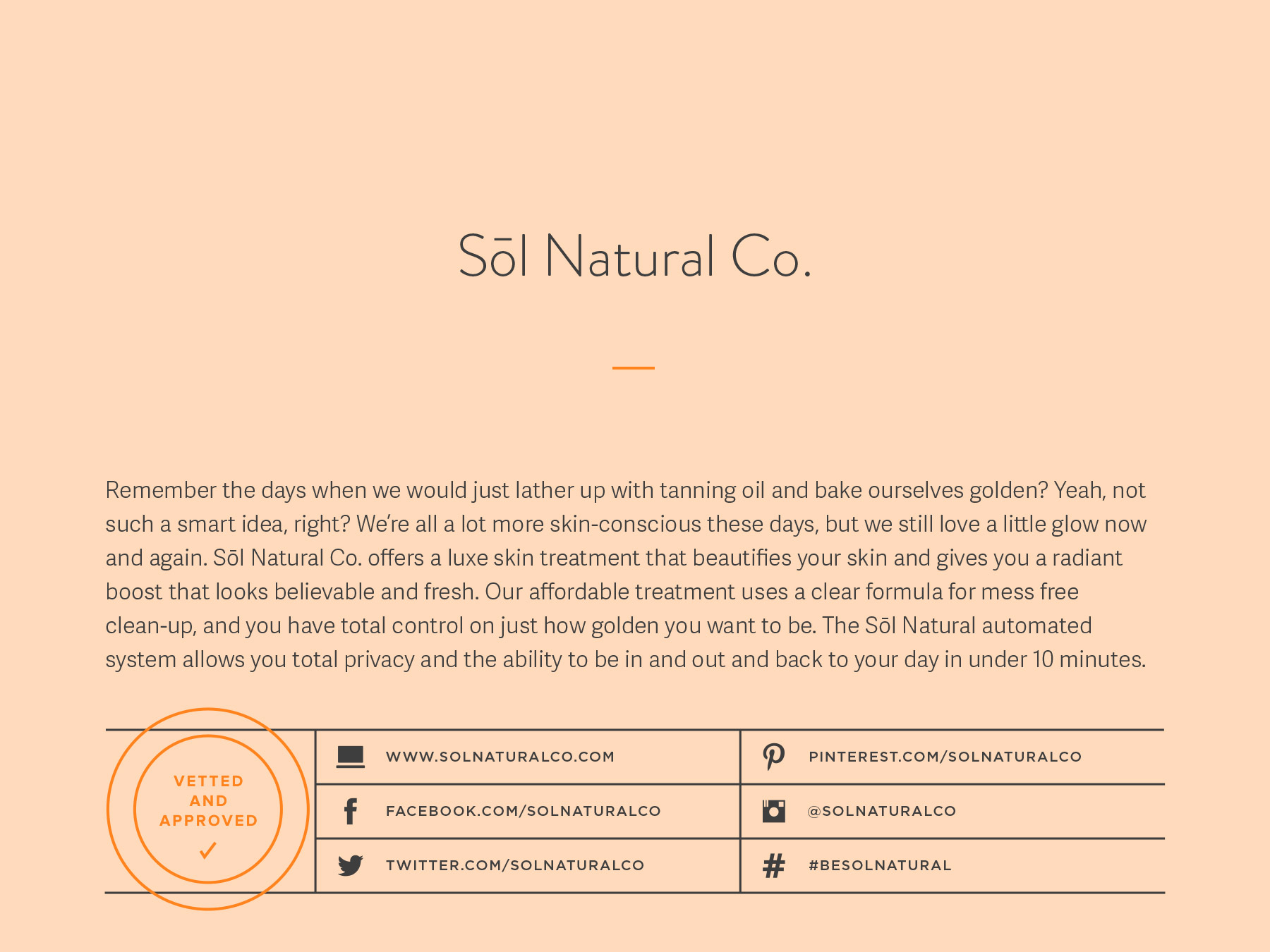 Sol Natural Co. company naming process