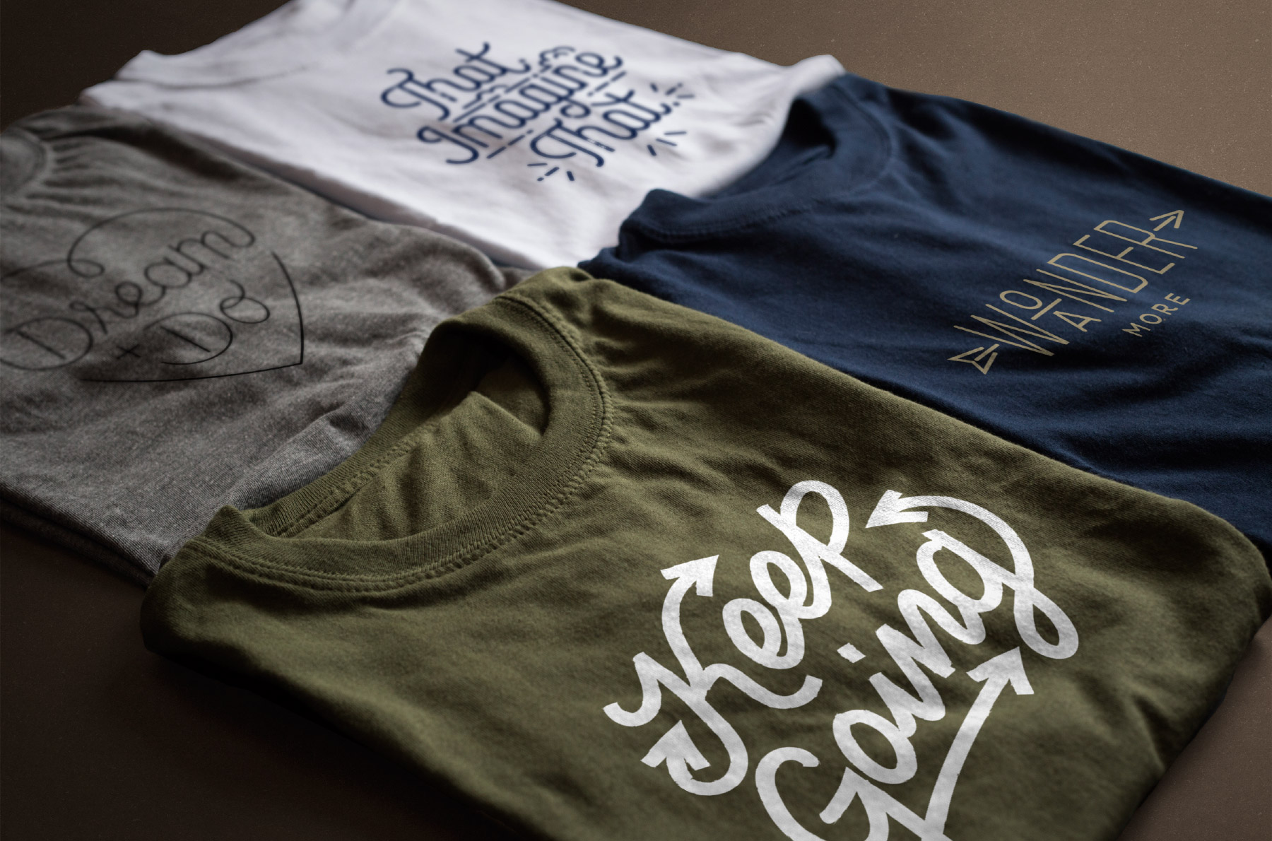Graphic t-shirts with inspirational messages