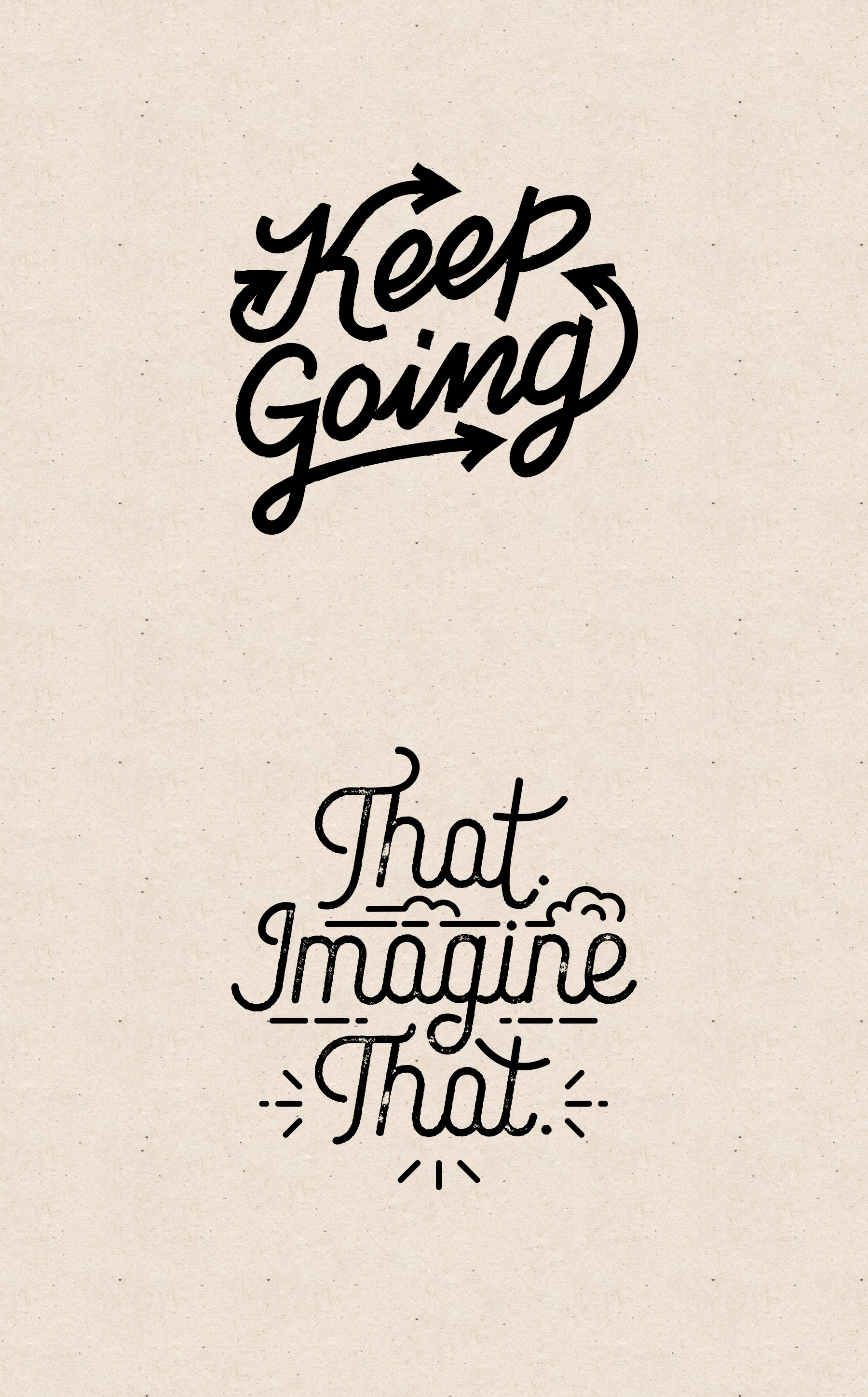Fun hand lettering for motivational messages
