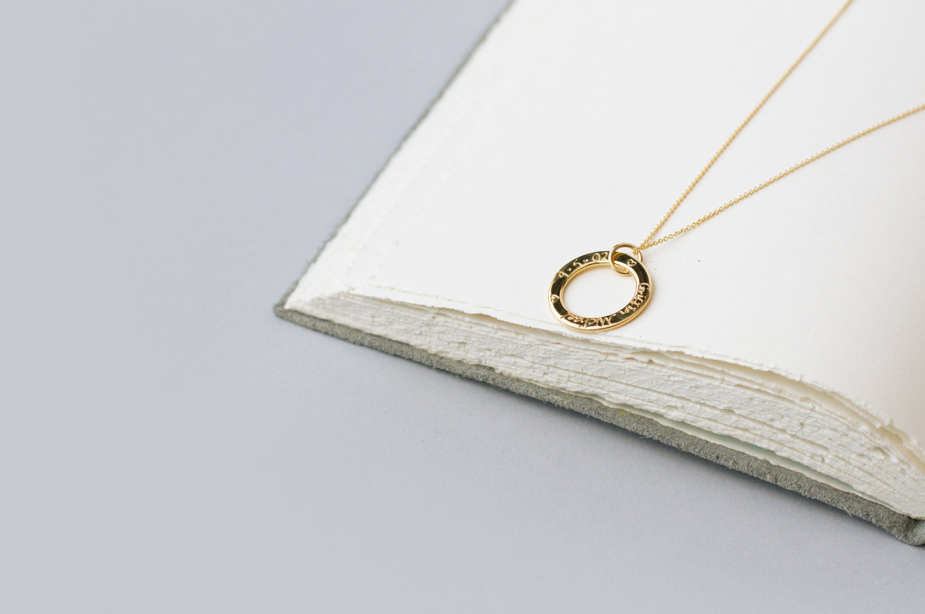 Dainty necklace with subtle engraving