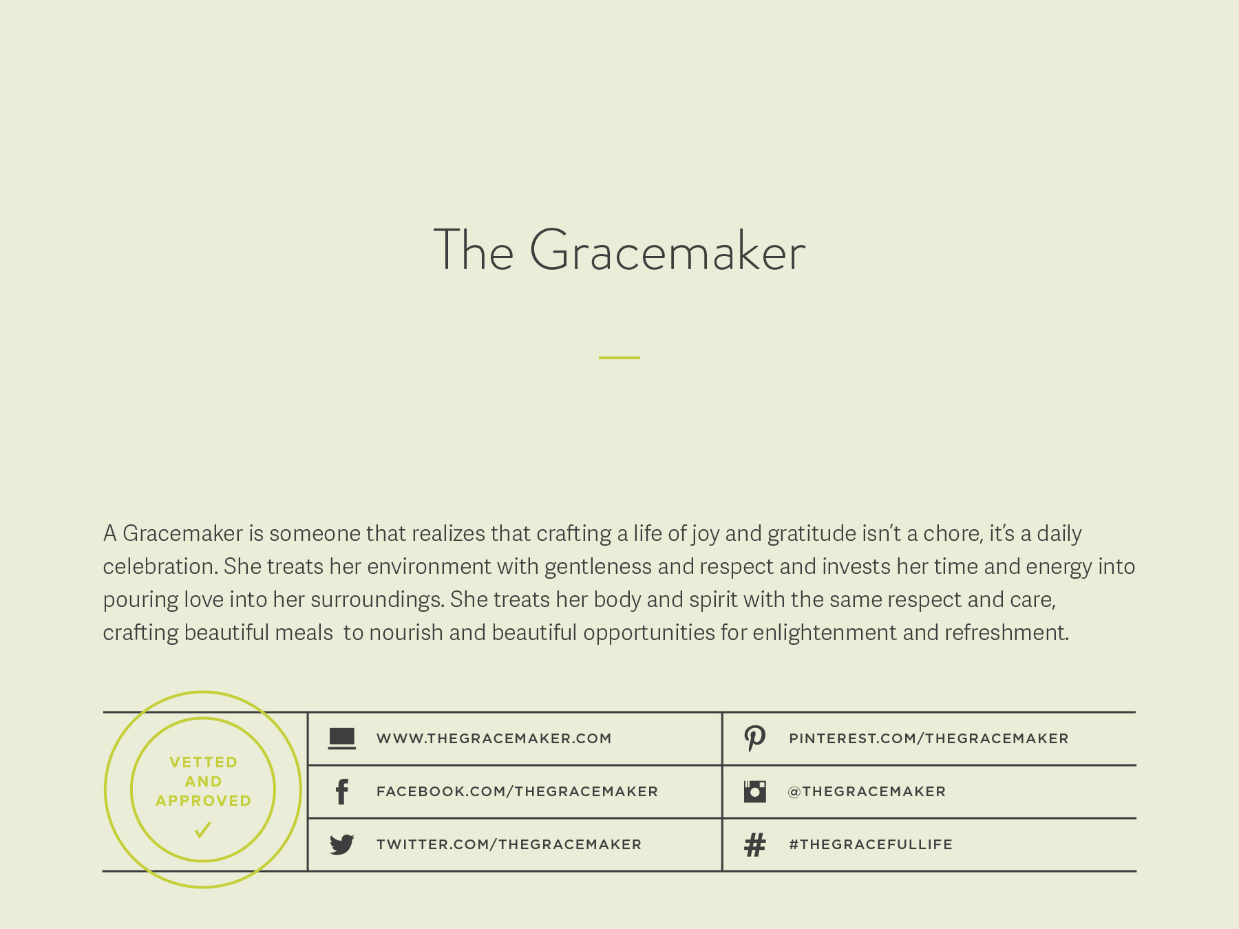 The Gracemaker company naming process