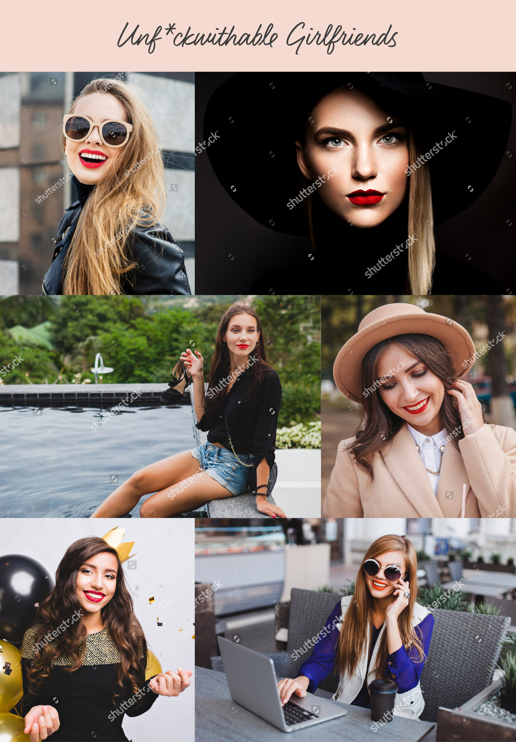 Collage of ambitious ladies