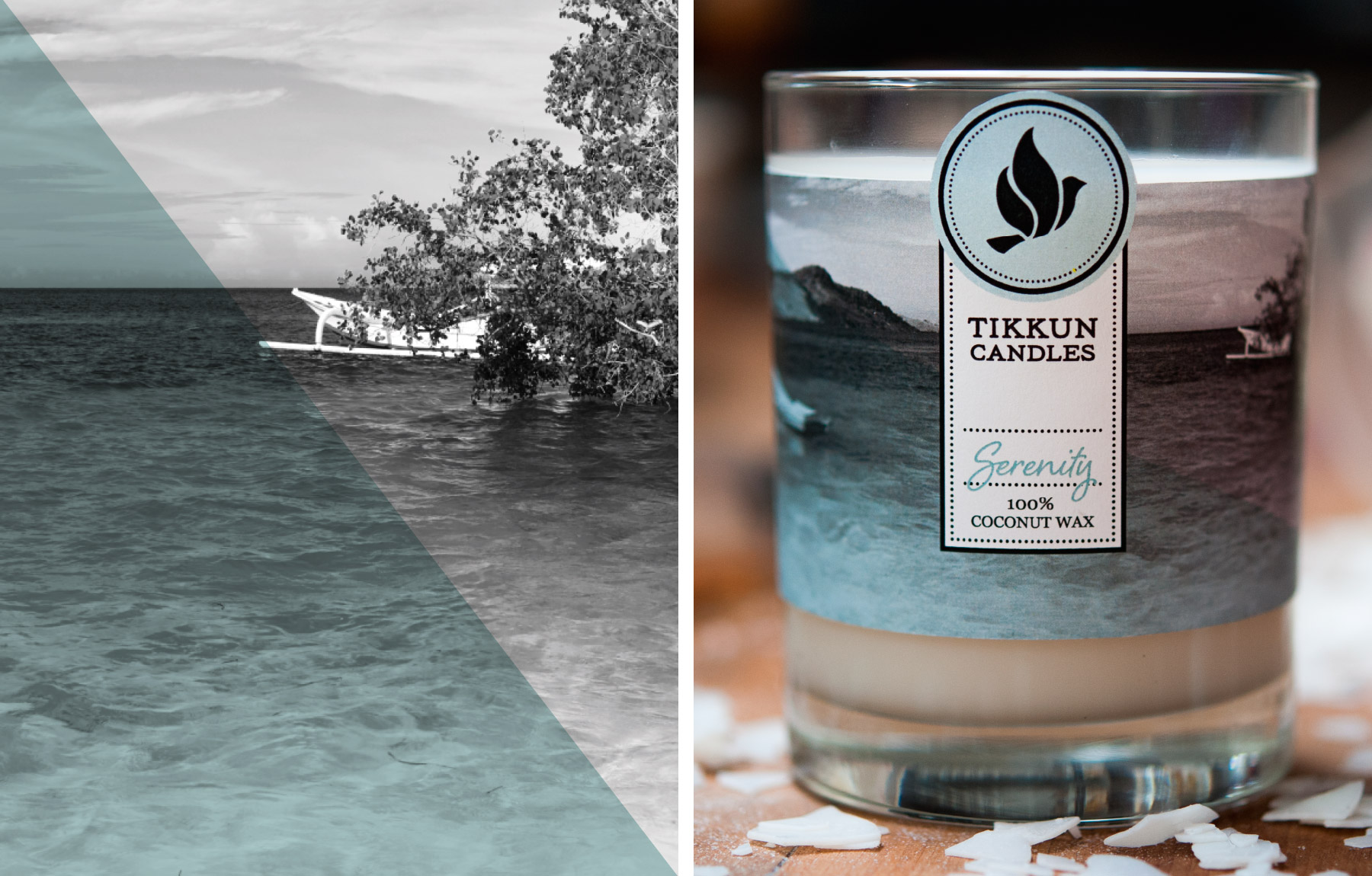 Serenity candle packaging design
