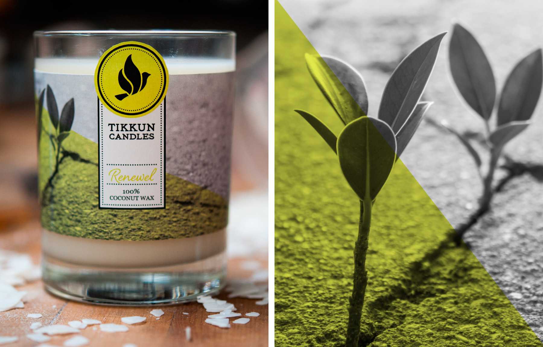 Renewel candle packaging design