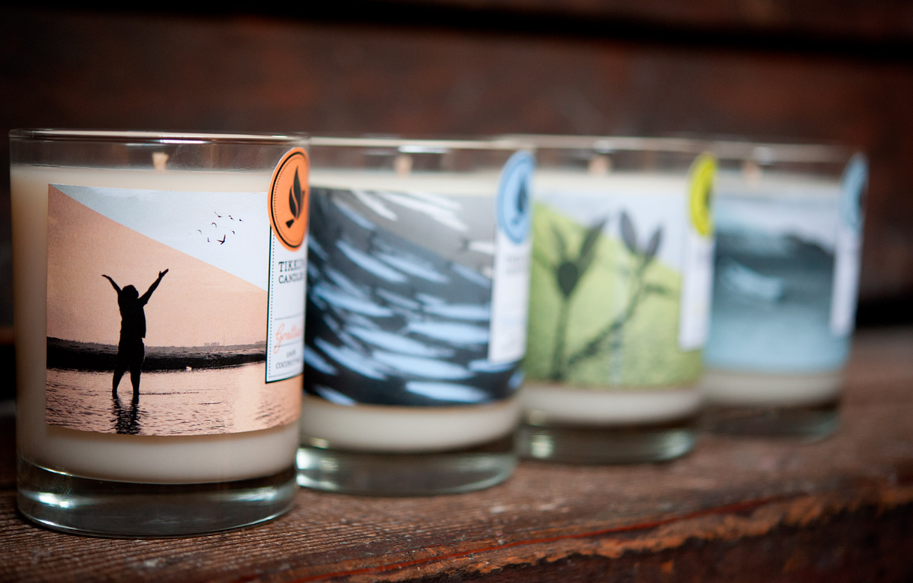 Variety of candle scents from Tikkun Candles