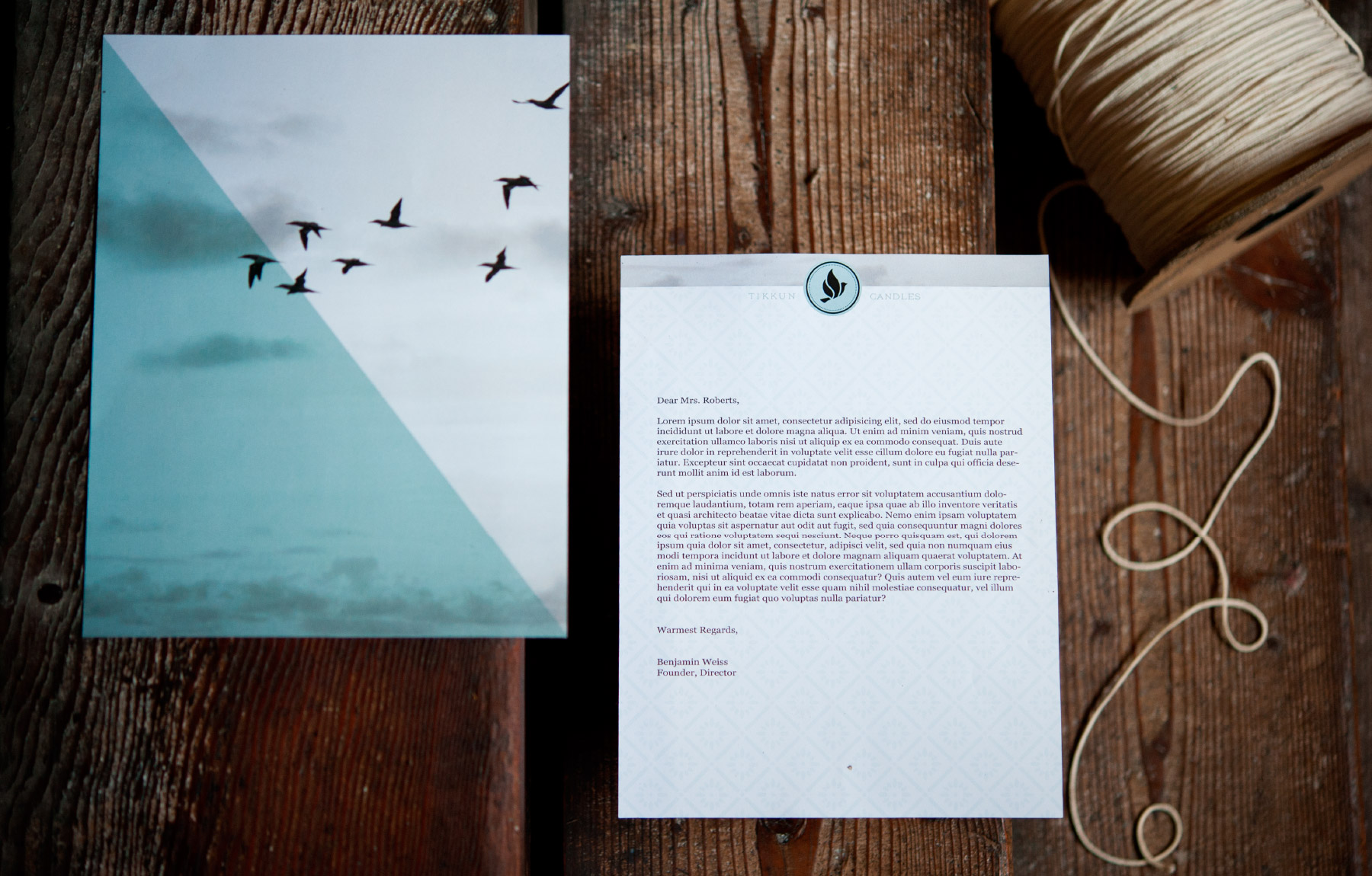 Letterhead with peaceful dove and sky photo background