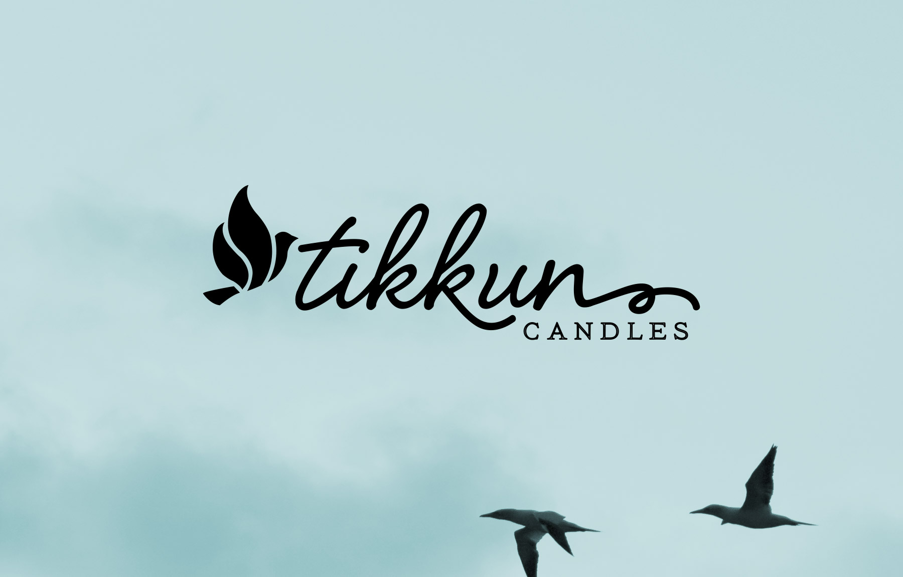 Soothing logo design for Tikkun Candles