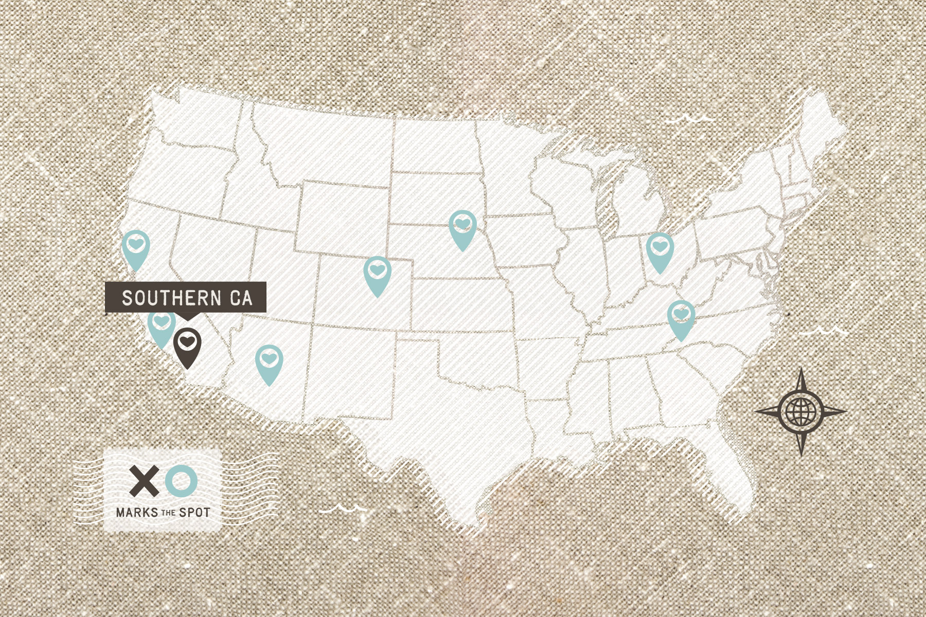 Interactive client map for wedding photography website