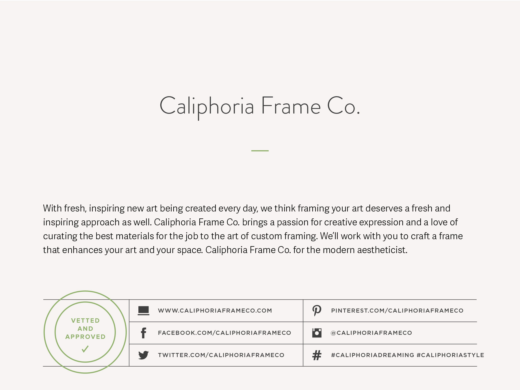 Small business naming for a custom frame and display design studio with a modern, customer-centric approach