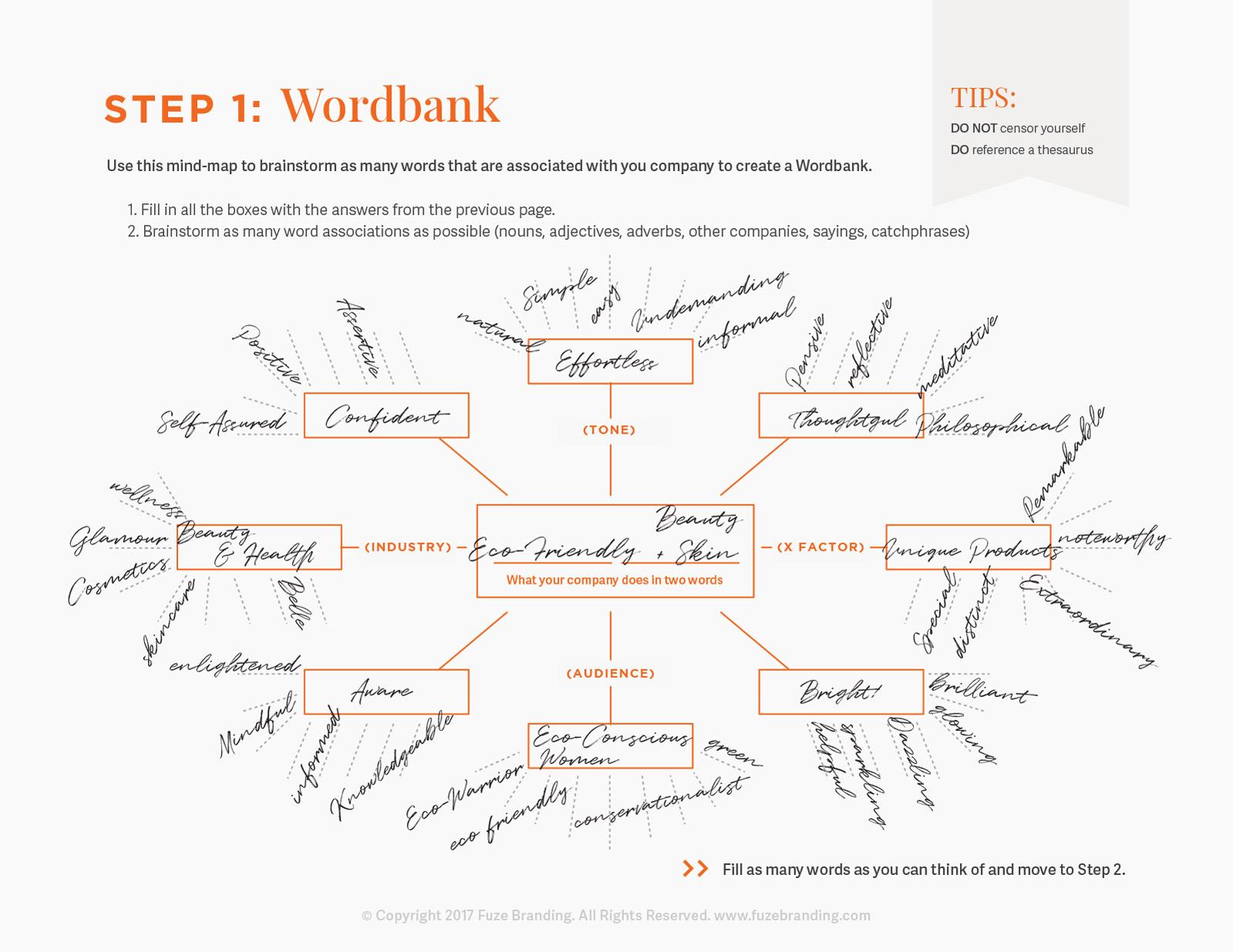 Fuze Branding Brainstorm Worksheet Tips For Naming