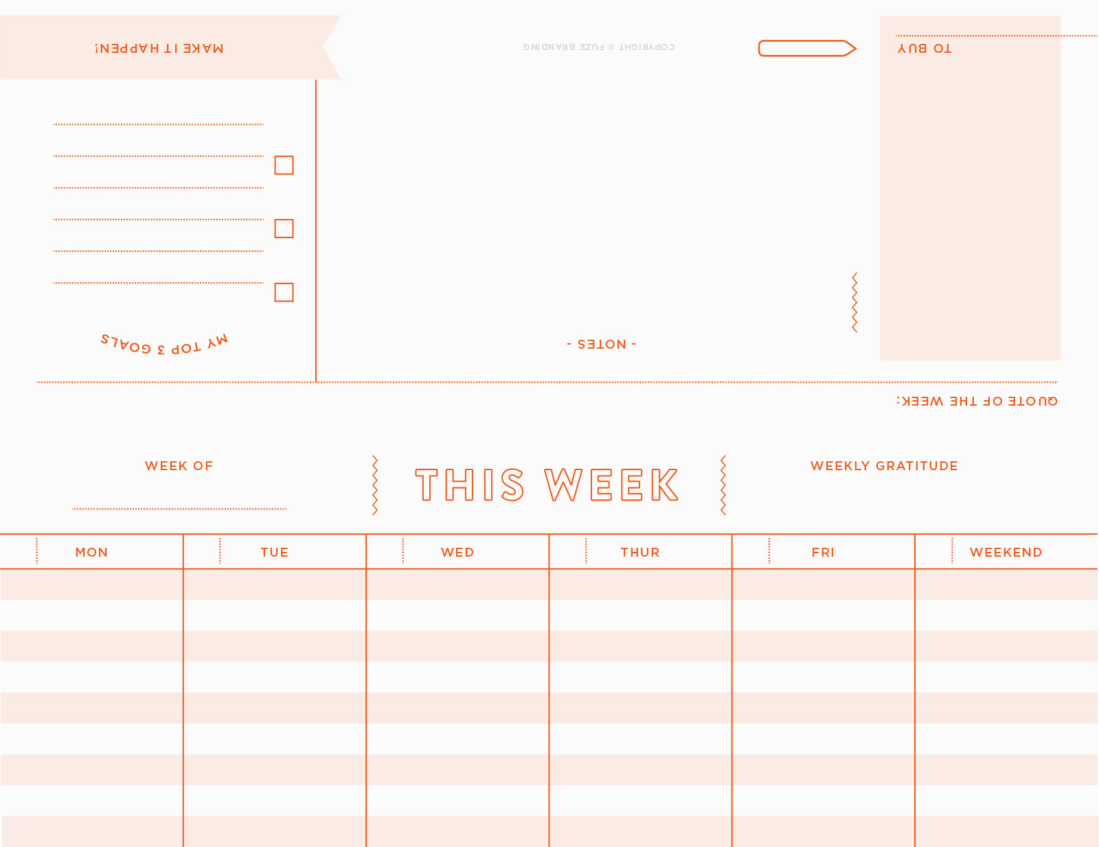 Fuze Branding - Free Printable Weekly Planner for Small ...